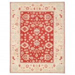 Afghan Hand-knotted Vegetable Dye Oushak Wool Rug (9' x 11'8) 1