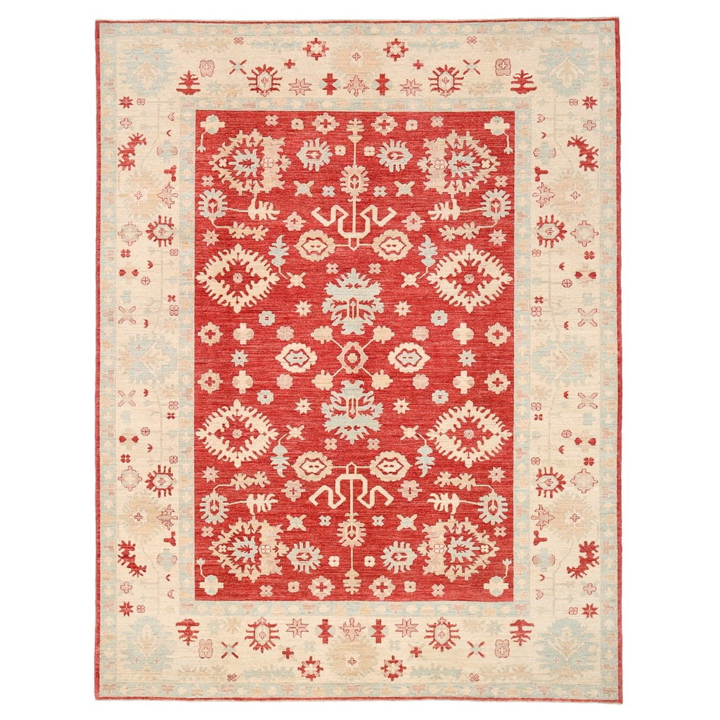 Shop Oriental Persian Gabbeh Shades Of Orange Hand Knotted: Afghan Hand-knotted Vegetable Dye Oushak Wool Rug (9' X 11