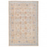 Afghan Hand-knotted Vegetable Dye Whitewash Khotan Wool Rug (5'11 x 8'11) 1