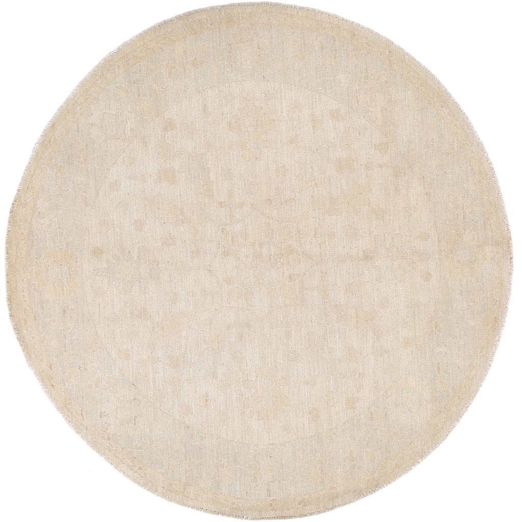 Fine Round Persian Bidjar Area Rug Hand Knotted Wool And: Afghan Hand-knotted Vegetable Dye Fine Oushak Wool Round
