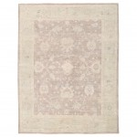 Afghan Hand-knotted Vegetable Dye Fine Oushak Wool Rug (7'6 x 9'8) 1