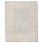 Afghan Hand-knotted Vegetable Dye Whitewash Khotan Wool Rug (8' x 10'4) 1