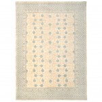 Afghan Hand-knotted Vegetable Dye Whitewash Khotan Wool Rug (9'9 x 13'7) 1