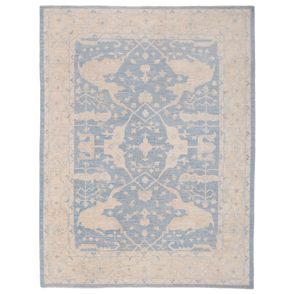 Afghan Hand Knotted Vegetable Dye Fine Ziegler Wool Rug 8 8 X 11 8