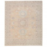 Afghan Hand-knotted Vegetable Dye Whitewash Khotan Wool Rug (8'2 x 9'10) 1
