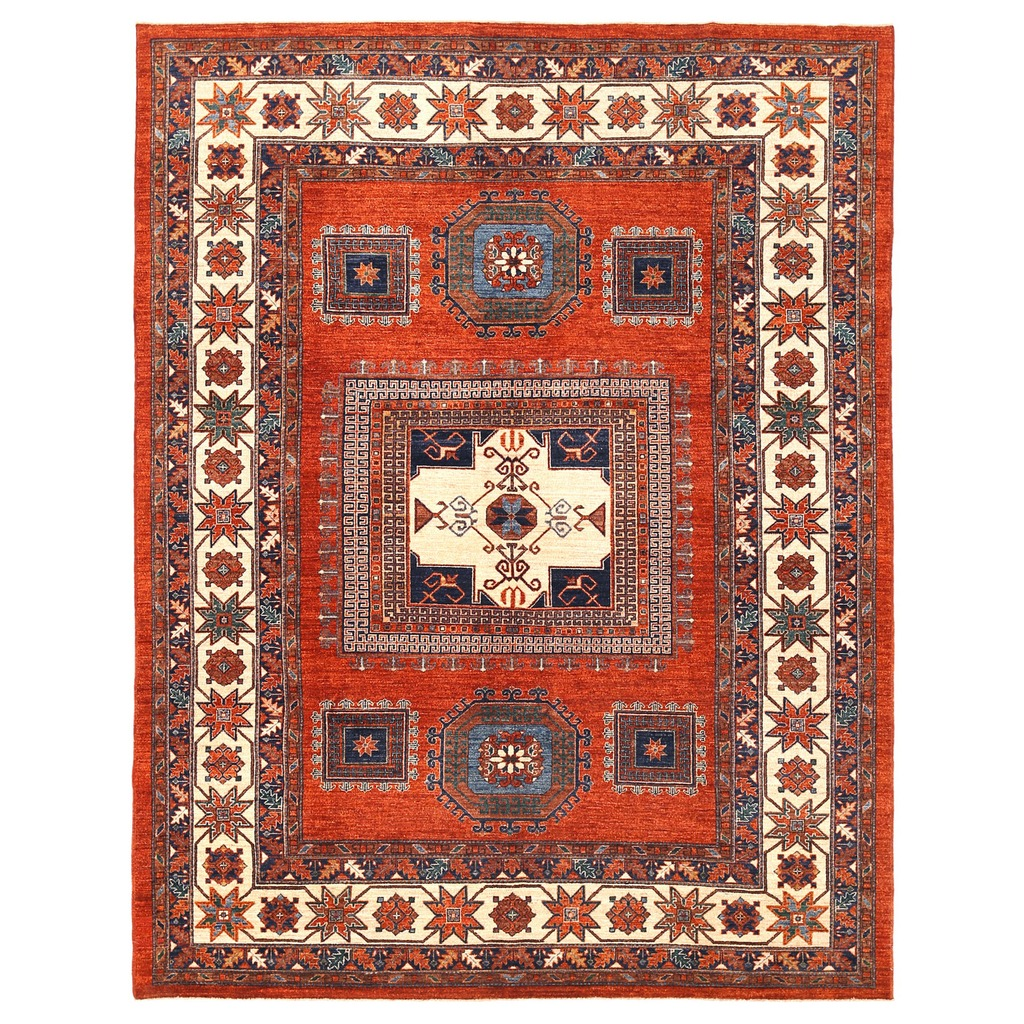 Vegetable Dye Kazak Wool Rug