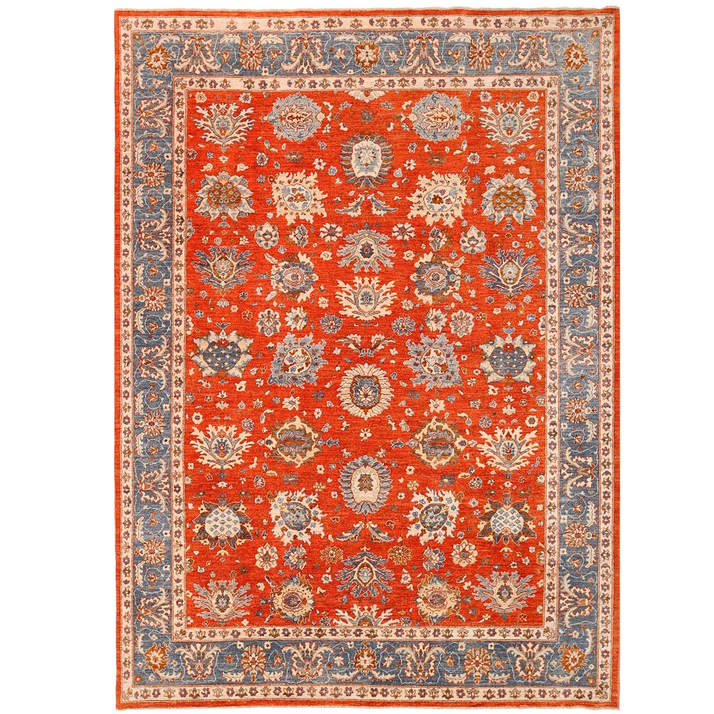 Hand Knotted Persian Tabriz Wool Area Rug Ebth: Afghan Hand-knotted Vegetable Dye Tabriz Wool Rug (7'10 X
