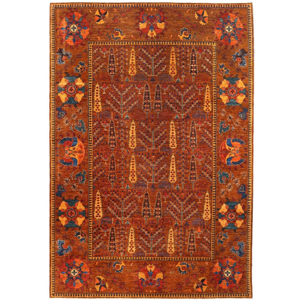 Afghan Hand Knotted Vegetable Dye Bakhtiari Wool Rug 8 10 X 12 10