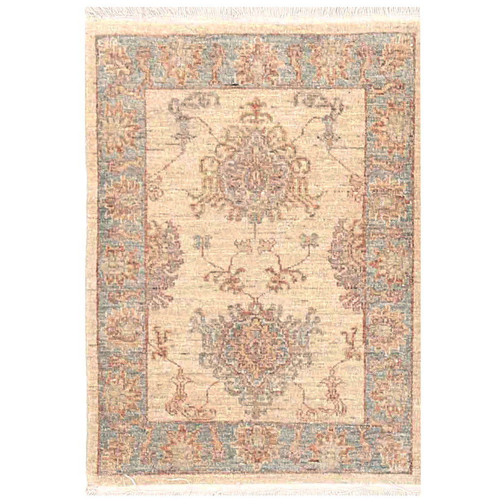Afghan Hand-knotted Vegetable Dye Tabriz Wool Rug (2′ x 2'9)