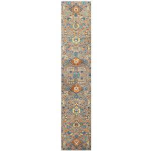 Afghan Hand-knotted Vegetable Dye Khotan Wool Rug (3'4 x 16'5) 1