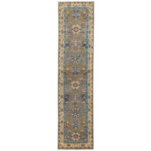 Afghan Hand-knotted Vegetable Dye Tabriz Wool Rug (2'10 x 12') 1