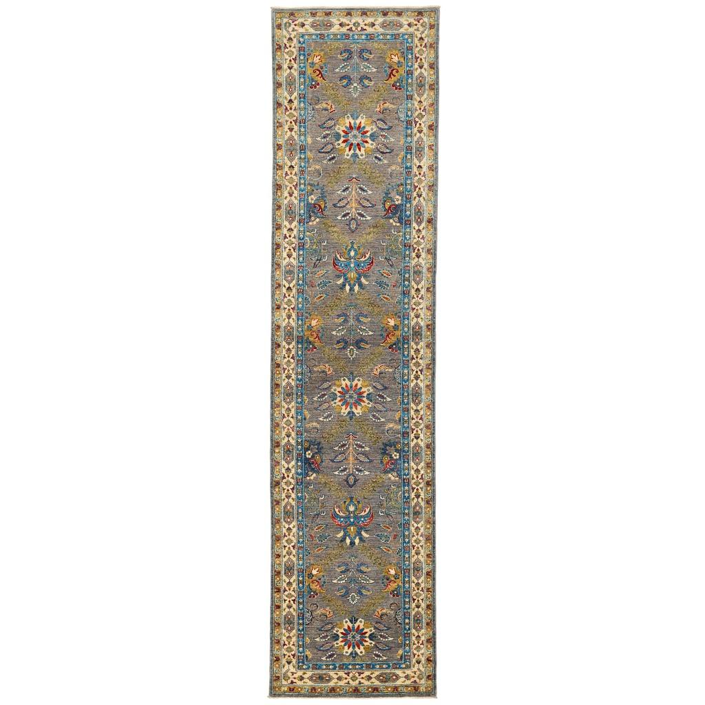 Afghan Hand-knotted Vegetable Dye Tabriz Wool Rug (2'10 x 12′)