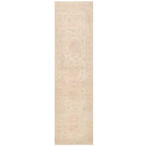 Afghan Hand-knotted Vegetable Dye Oushak Wool Rug (2'9 x 9'10) 1
