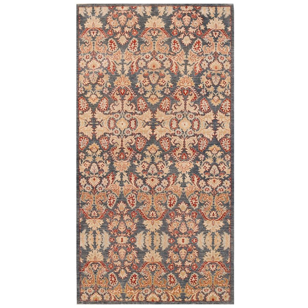 Afghan Hand-knotted Vegetable Dye Khotan Wool Rug (5′ x 9'7)