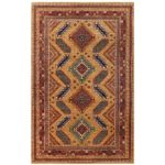 Afghan Hand-knotted Vegetable Dye Kazak Wool Rug (5'9 x 8'10) 1