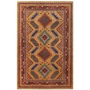 Afghan Hand-knotted Vegetable Dye Kazak Wool Rug (5'9 x 8'10) 1
