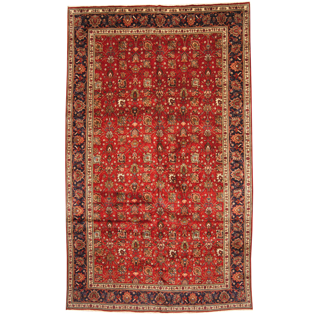 Persian Hand Knotted 1960s Semi Antique Tabriz Wool Rug 9