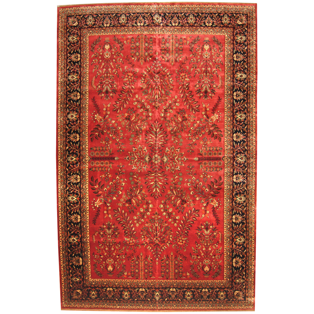 Indo Persian Hand-knotted Sarouk Wool Rug (11'8 x 18'1)