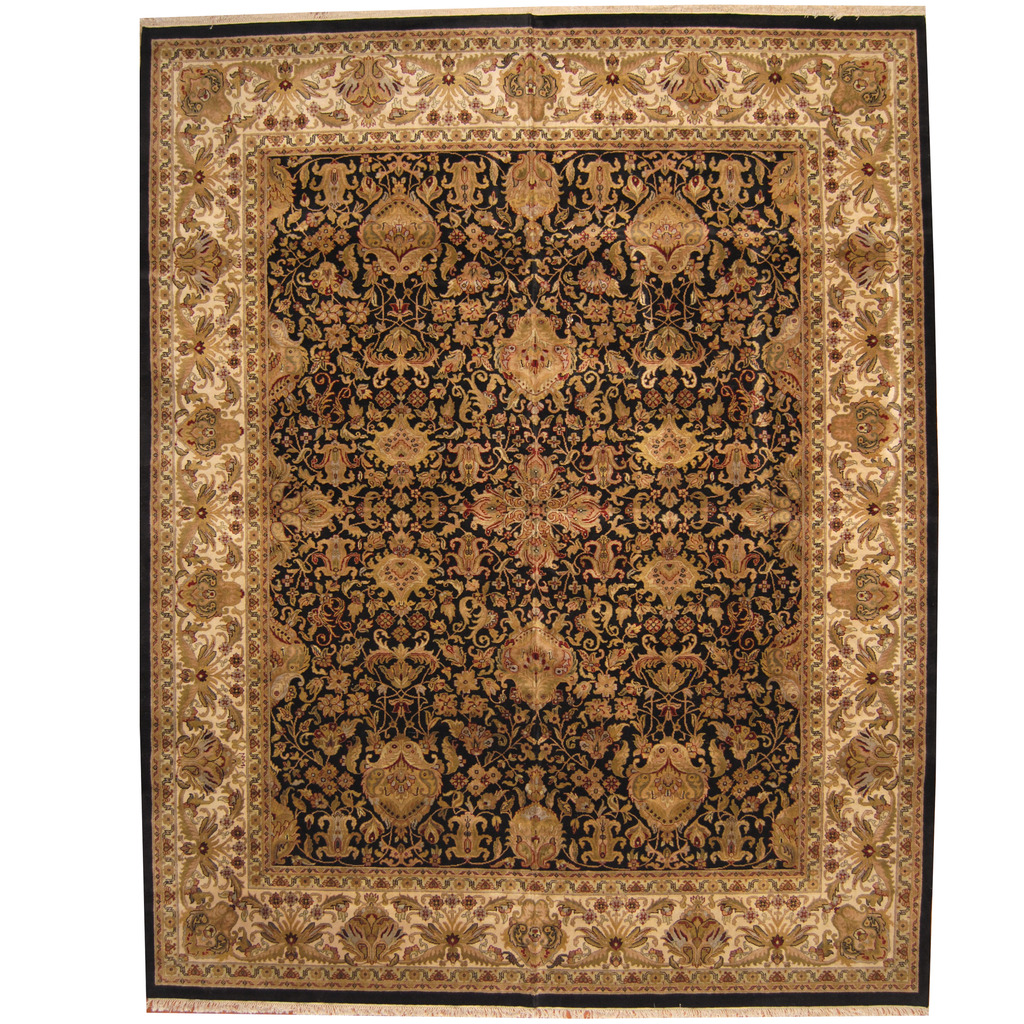 Indo Persian Hand-knotted Khorasan Wool Rug (12'1 x 15'1)