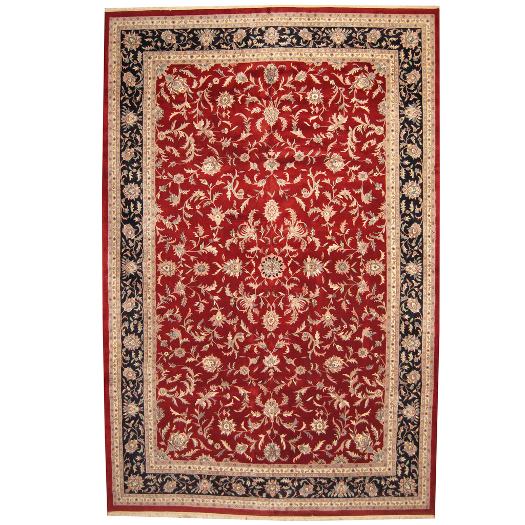 Indo-persian-hand-knotted-kashan-12'-x-18'3