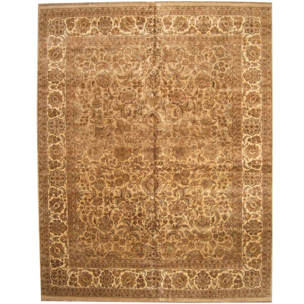 Indo Persian Hand-knotted Khorasan Wool Rug (12'1 x 15'3)