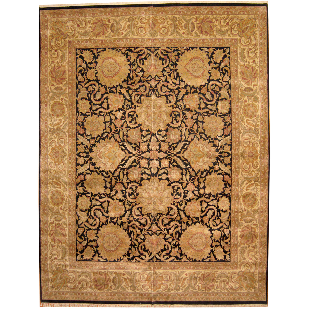 Indo Persian Hand-knotted Khorasan Wool Rug (12′ x 15'6)