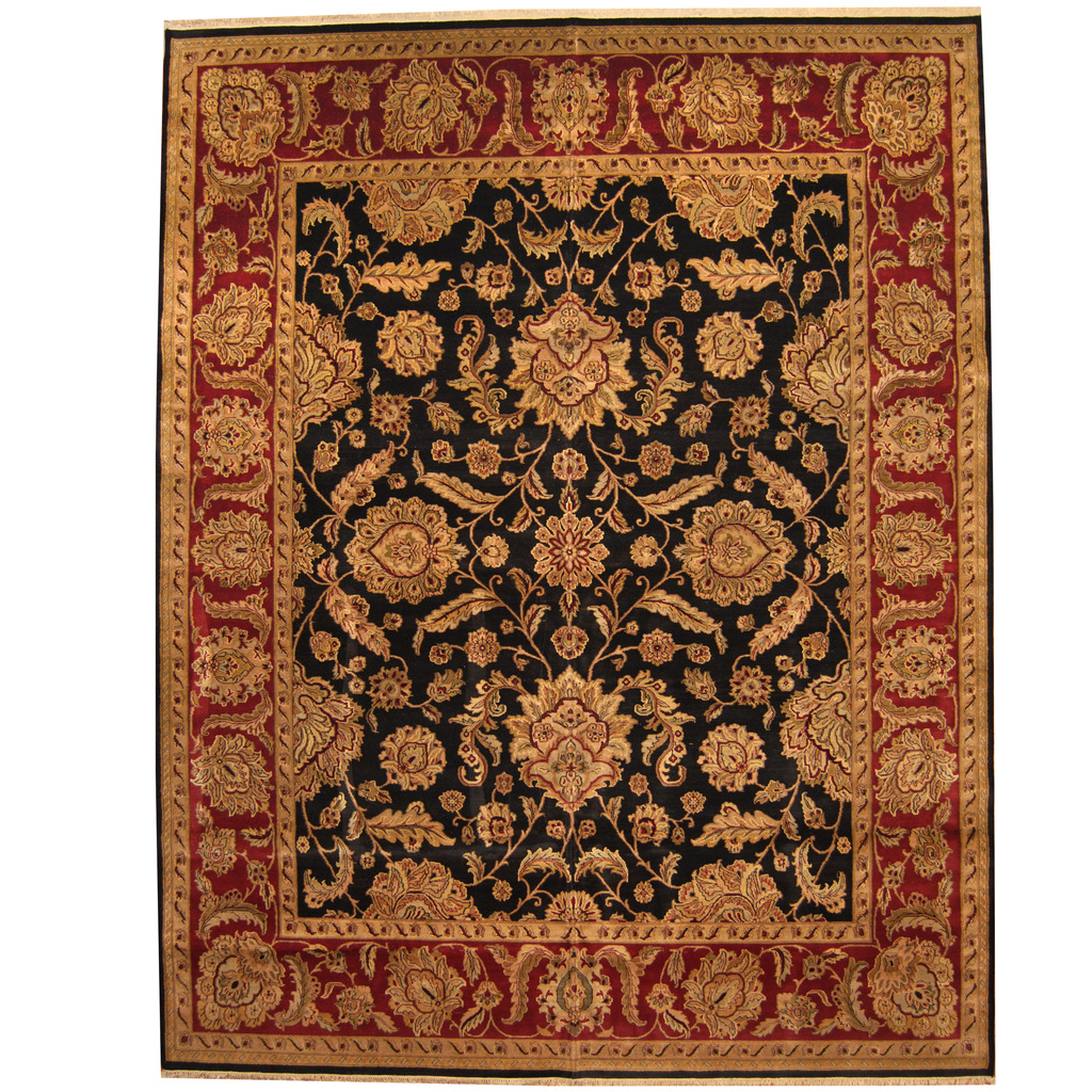 Indo Persian Hand-knotted Khorasan Wool Rug (11'9 x 15′)