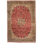 Persian Hand-knotted 1960's Semi-antique Isfahan Wool Rug (10'2 x 15') 1
