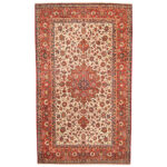 Persian Hand-knotted 1960's Semi-antique Isfahan Wool Rug (10' x 17'1) 1
