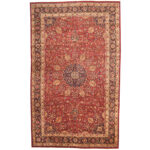 Persian Hand-knotted 1970's Semi-antique Mashad Wool Rug (9'10 x 16'2) 1