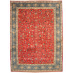 Persian Hand-knotted 1960's Semi-antique Isfahan Wool Rug (11'3 x 15'7) 1
