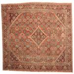 Persian Hand-knotted 1920's Antique Mahal Wool Rug (10'4 x 10'6) 1