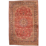 Persian Hand-knotted 1960's Semi-antique Isfahan Wool Rug (10'10 x 16'10) 1