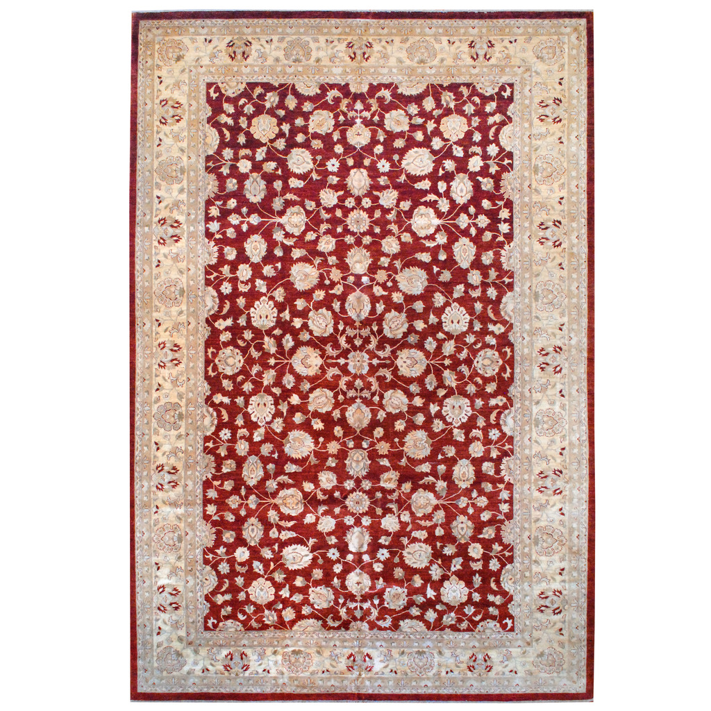 Afghan Hand Knotted Vegetable Dye Wool Rug 12 X 18