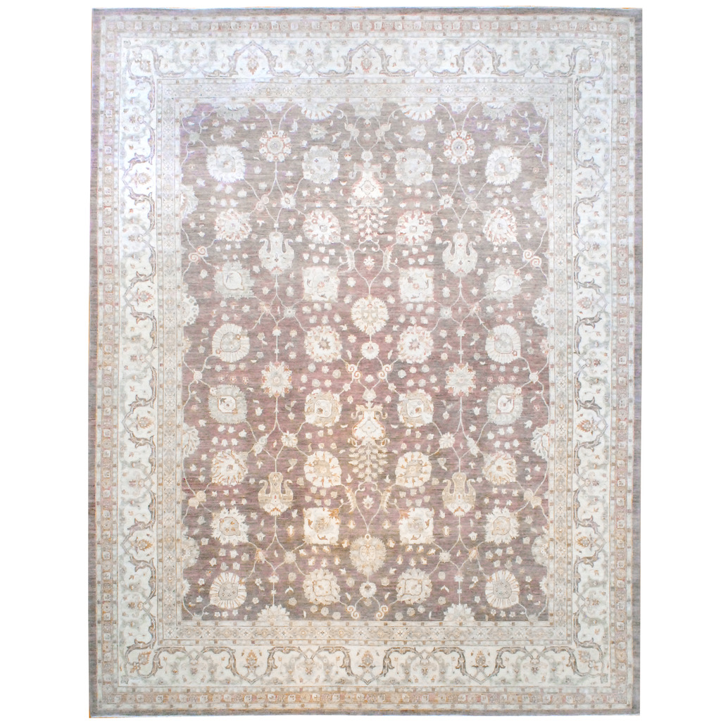 Afghan Hand-knotted Vegetable Dye Wool Rug (11'9 x 14'10)