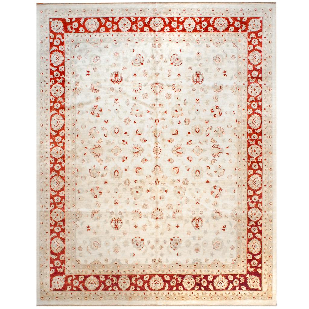 Afghan Hand-knotted Vegetable Dye Wool Rug (11'9 x 14'4)