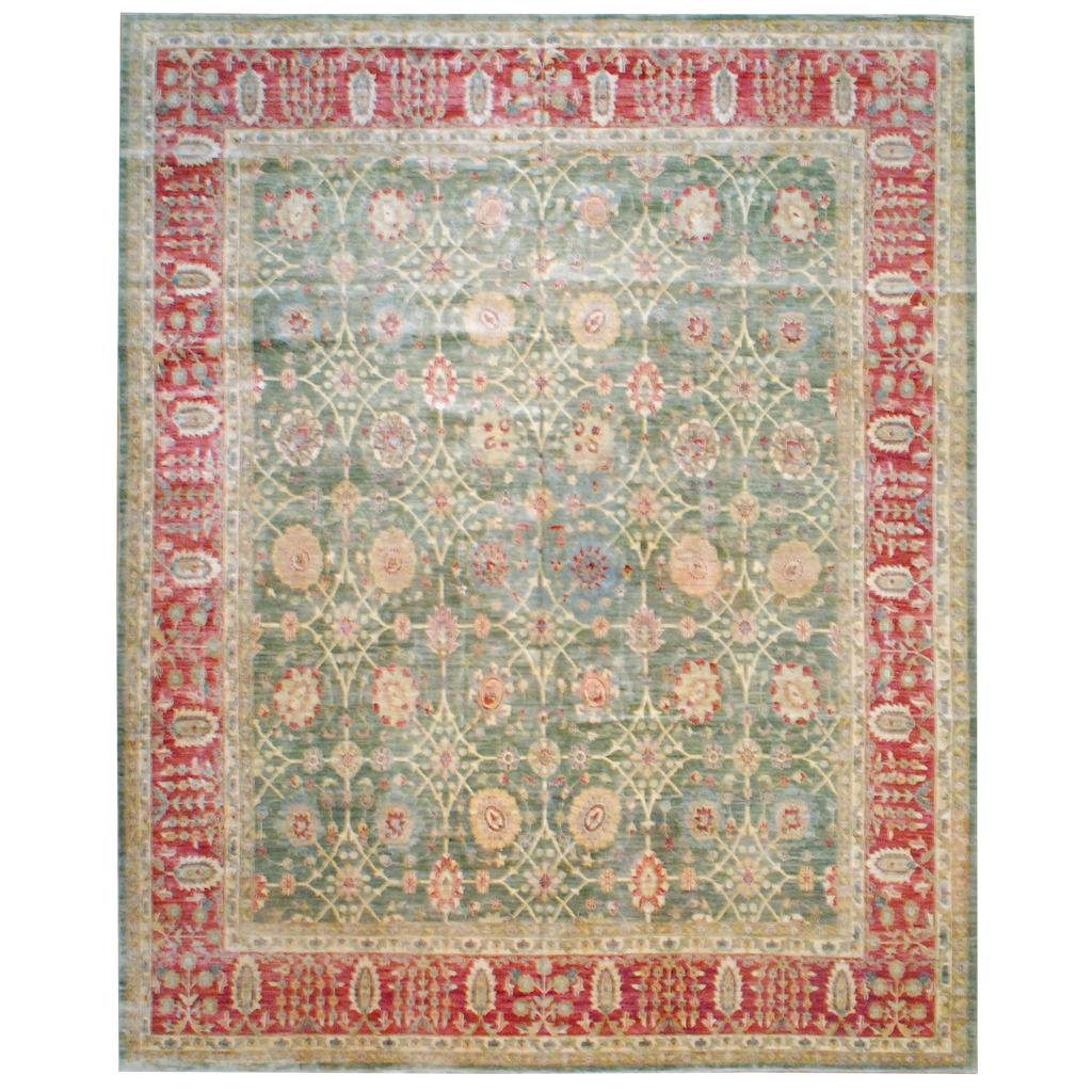 Afghan Hand-knotted Vegetable Dye Wool Rug (12′ x 14'10)