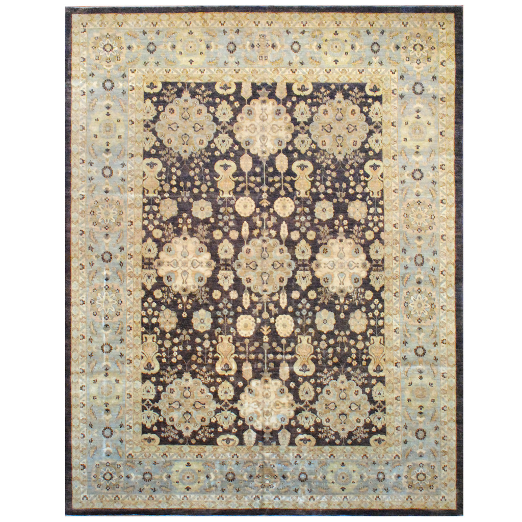 Afghan Hand-knotted Vegetable Dye Wool Rug (11'9 x 15′)