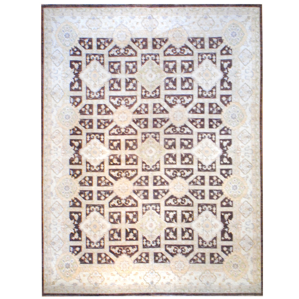 Afghan Hand-knotted Vegetable Dye Wool Rug (12′ x 16′)