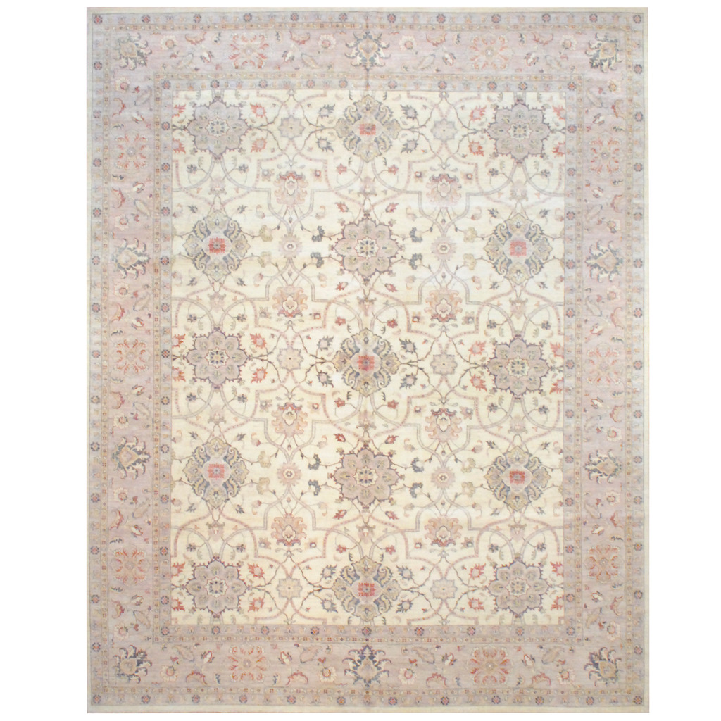 Afghan Hand-knotted Vegetable Dye Wool Rug (12′ x 15′)