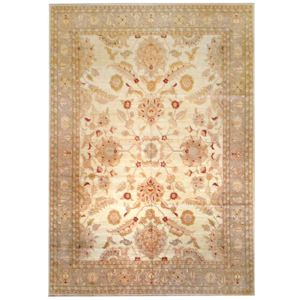 Afghan Hand-knotted Vegetable Dye Wool Rug (12'7 x 18'3)