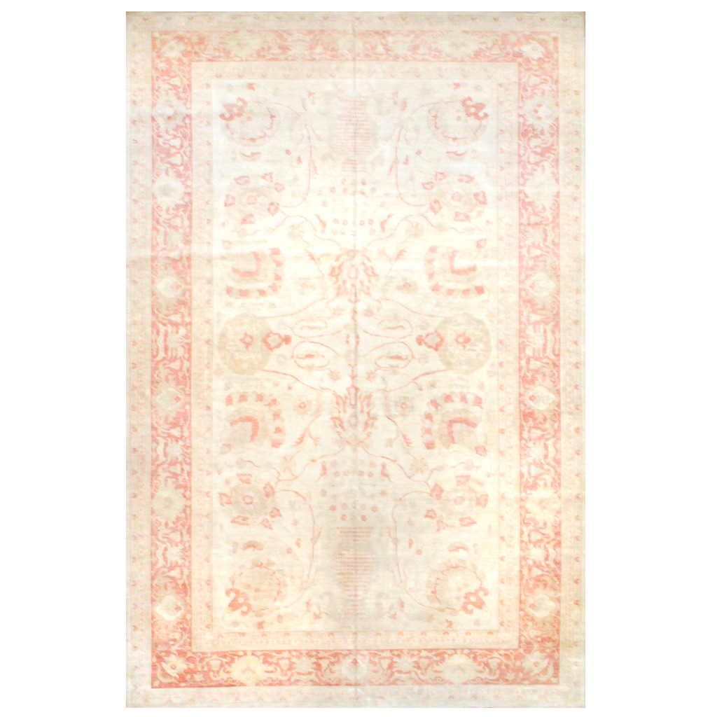 Afghan Hand-knotted Vegetable Dye Wool Rug (12′ x 18'5)