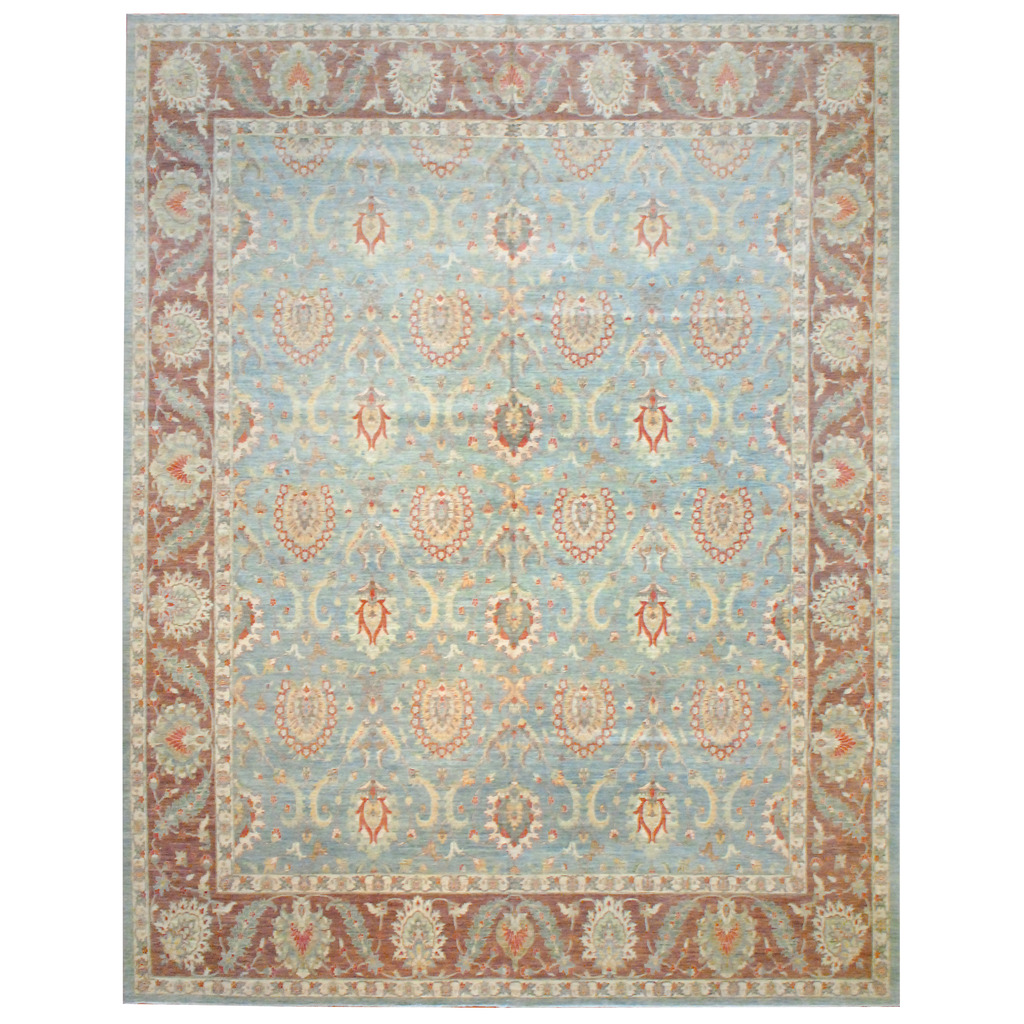 Afghan Hand-knotted Vegetable Dye Wool Rug (13'4 x 17'7)