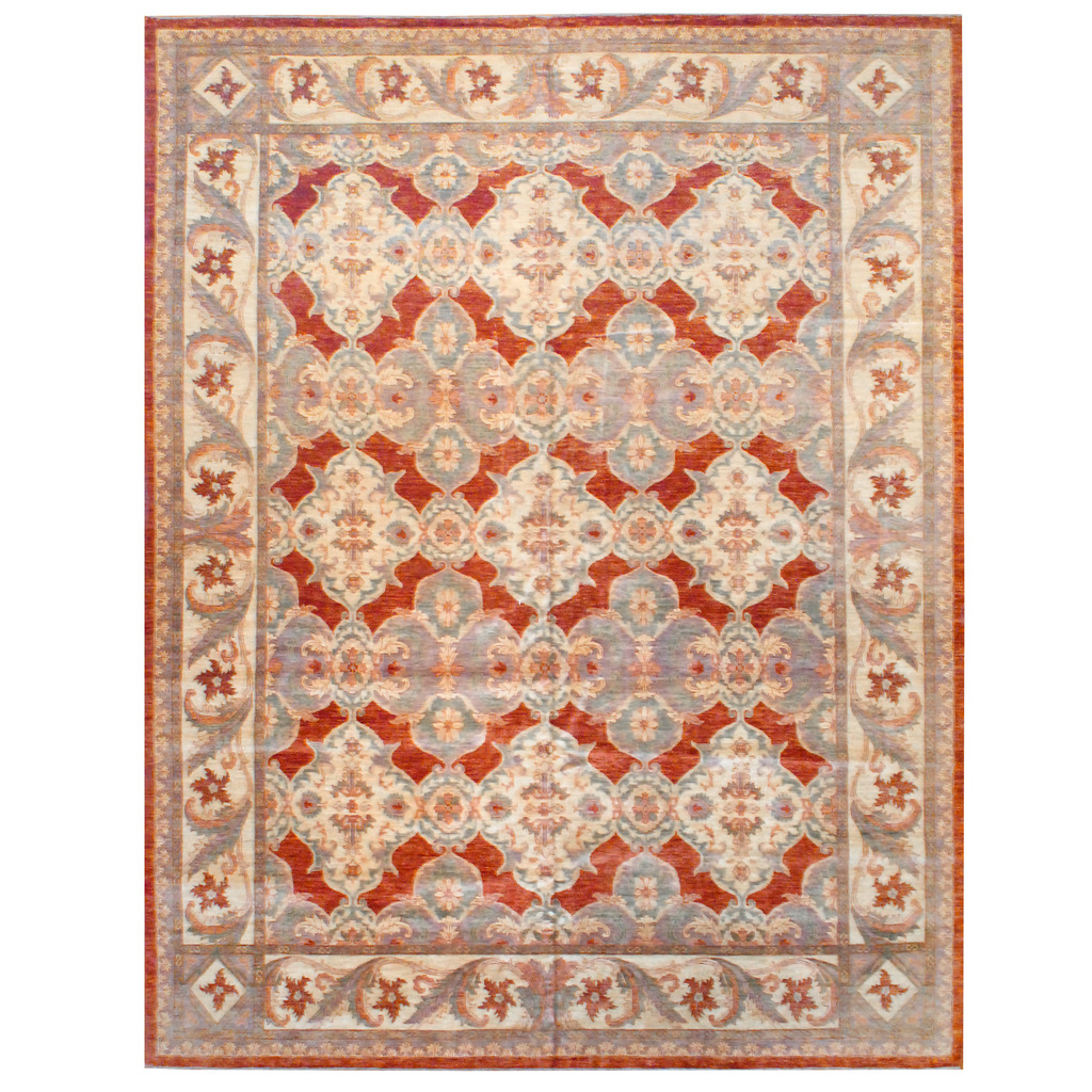 Afghan Hand-knotted Vegetable Dye Wool Rug (11'9 x 15'5)