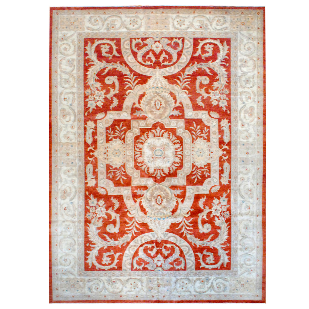 Afghan Hand-knotted Vegetable Dye Wool Rug (11'8 x 16'3)