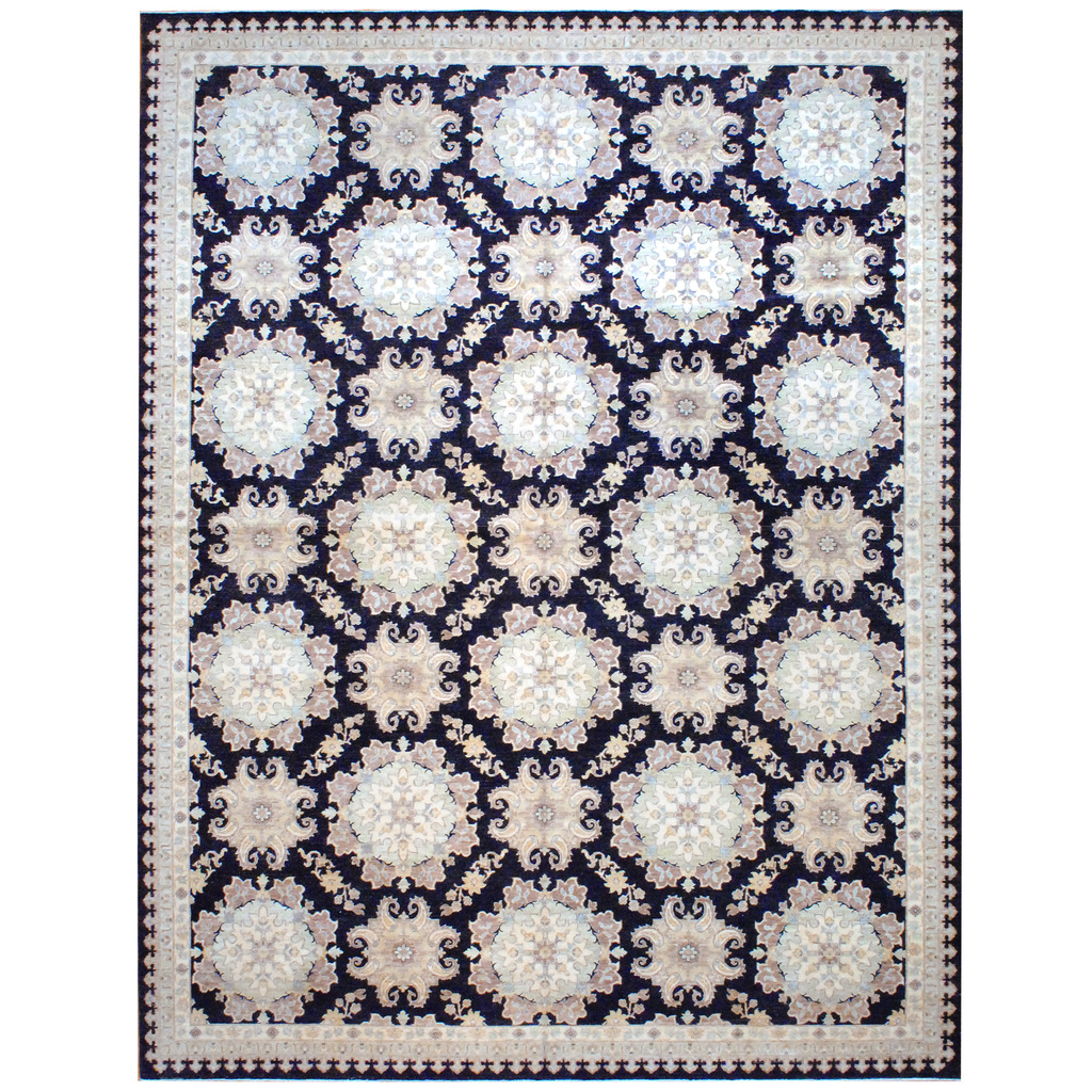 Afghan Hand-knotted Vegetable Dye Wool Rug (12′ x 15'8)
