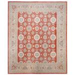 Afghan Hand-knotted Vegetable Dye Wool Rug (12' x 14'7) 1