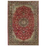 Persian Hand-knotted Isfahan Wool Rug (9'6 x 13'8) 1
