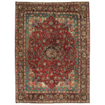 Persian Hand-knotted Mahal Wool Rug (10'6 x 14'1) 1