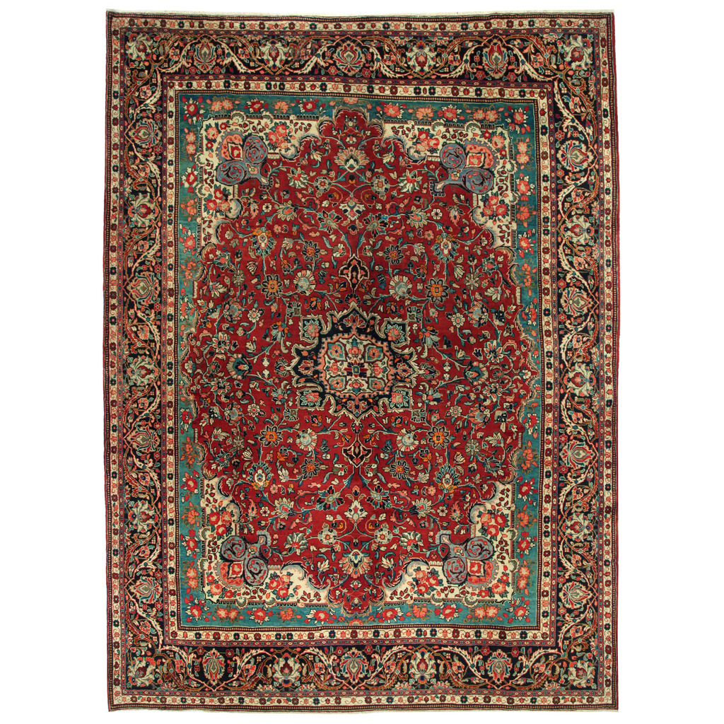 Persian Hand-knotted Mahal Wool Rug (10'6 x 14'1)